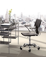 Trafico Office Chair Black | Zuo Modern
