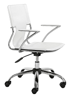 Trafico Office Chair in White | Zuo