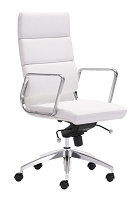 Engineer High Back Office Chair in White | Zuo