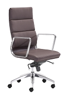 Engineer High Back Office Chair in Espresso | Zuo