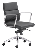 Engineer Low Back Office Chair in Black | Zuo