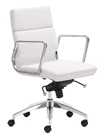 Engineer Low Back Office Chair in White | Zuo