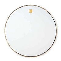 Regina Andrew Hanging Circular Mirror Natural Brass