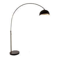 Luna Bella Arc Lamp Weathered Brass | Nova