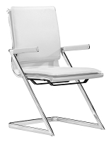 Lider Plus Conference Chair in White set of 2 | Zuo