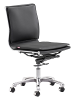 Lider Plus Armless Office Chair Black | Zuo Modern