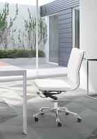 Lider Plus Armless Office Chair White | Zuo Modern