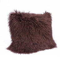 Mongolian Fur Pillow Chocolate | Regina Andrew