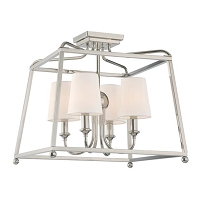 Sylvan 4-Light Polished Nickel Ceiling Mount | Crystorama