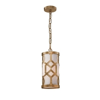 Jennings 1-Light Aged Brass Pendant | Crystorama