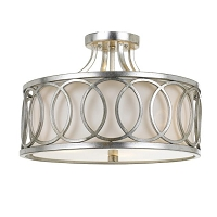 Graham 3-Light Ant Silver Ceiling Mount | Crystorama