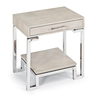 Regina Andrew Shagreen End Table Ivory Grey