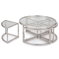 Regina Andrew Majestic Coffee Table Polished Nickel