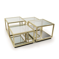 Regina Andrew Noel Coffee Table Natural Brass