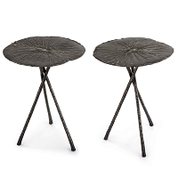 Regina Andrew Lotus Table Large Dark Nickel Set of 2