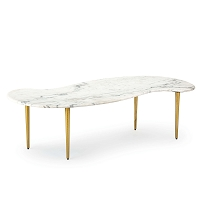 Regina Andrew Jagger Marble Cocktail Table White