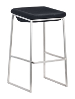 Zuo Modern Lids Barstool Dark Gray Set of 2