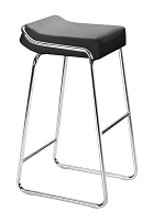 Wedge Barstool in Black set of 2 | Zuo