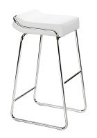 Wedge Barstool in White set of 2 | Zuo