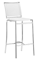 Soar Bar Chair in White set of 2 | Zuo