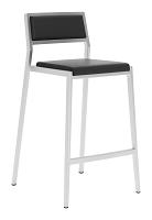 Dolemite Counter Chair in Black set of 2 | Zuo