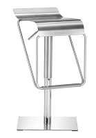 Dazzer Barstool in Brushed Stainless Steel | Zuo