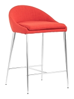 Reykjavik Counter Chair in Tangerine set of 2 | Zuo