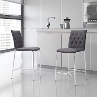 Zuo Modern Uppsala Counter Chair Graphite Set of 2