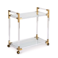 Americano Bar Cart Natural Brass | Regina Andrew