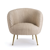 Regina Andrew Beretta Leather Chair Cappuccino