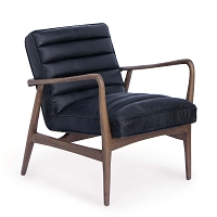Regina Andrew Piper Chair Antique Black Leather