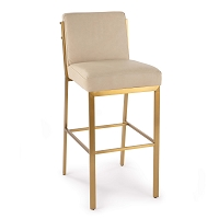 Regina Andrew Chantal Leather Bar Stool Cappuccino