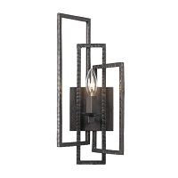 Capri-1 Light Raw Steel Sconce | Crystorama
