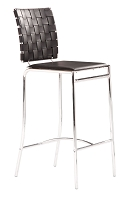 Criss Cross Counter Chair in Black set of 2 | Zuo
