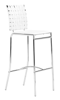 Criss Cross Bar Chair in White set of 2 | Zuo