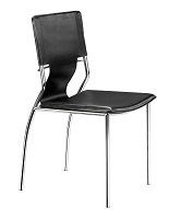 Trafico Dining Chair in Black set of 4 | Zuo