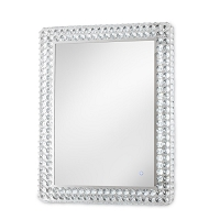 Windsor Illuminated Wall Mirror Rectangular Chrome | Nova