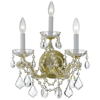 Maria Theresa 3-Light Clear Swarovski Strass Crystal Gold Sconce II | Crystorama