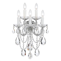 Maria Theresa 5-Light Clear Crystal Gold Sconce I | Crystorama