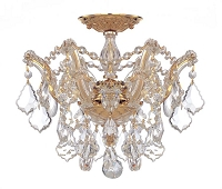 Maria Theresa 3-Light Swarovski Strass Crystal Gold Semi-Flush II | Crystorama