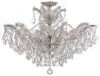 Maria Theresa 6-Light Clear Crystal Chrome Semi-Flush II | Crystorama