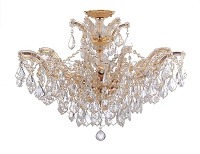 Maria Theresa 6-Light Spectra Crystal Gold Semi Flush II | Crystorama