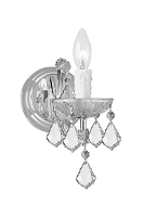 Maria Theresa 1-Light Clear Crystal Chrome Sconce I | Crystorama