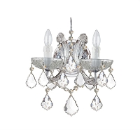 Maria Theresa 2-Light Spectra Crystal Chrome Sconce II | Crystorama