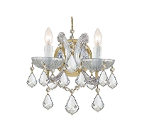 Maria Theresa 2-Light Spectra Crystal Gold Sconce II | Crystorama
