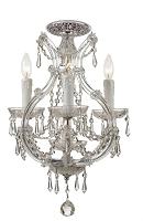 Maria Theresa 4-Light Elements Crystal Chrome Ceiling Mount I | Crystorama