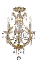 Maria Theresa 4-Light Clear Crystal Gold Flush Mount I | Crystorama