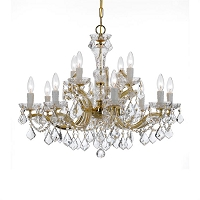 Maria Theresa 12-Light Spectra Crystal Gold Chandelier | Crystorama