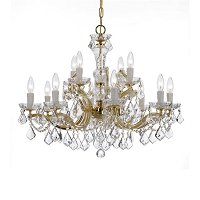 Maria Theresa 12-Light Swarovski Strass Crystal Gold Chandelier | Crystorama