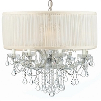 Brentwood 12 Light Drum Shade Chrome Chandelier Swarovski Strass | Crystorama
